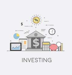 Banking and business financial market secure vector