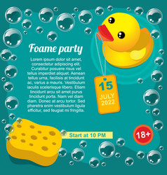 aqua foam party promotional template vector image