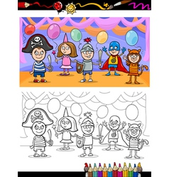 kids ball for coloring book vector image