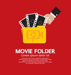 Movie folder vector