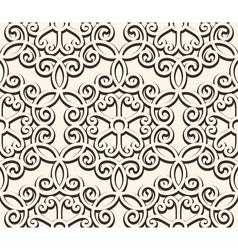 Vintage seamess lace vector image