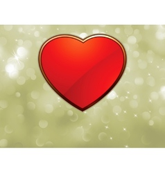 Beautiful valentine bokeh with red heart eps 8 vector