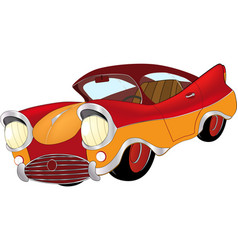 a red toy car cartoon vector image