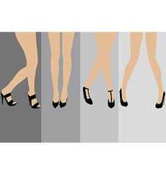 Set of advertisement concepts for stockings vector