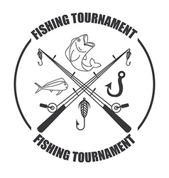 Fishing tournament vector