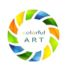 Abstract colorful circle logo background vector