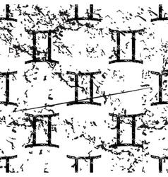 Gemini pattern grunge monochrome vector