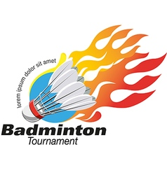 Shape badminton tournament logo event vector