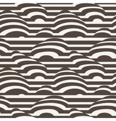 Seamless pattern of monohrome stripes vector