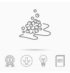 Bubbles icon foam for bathing sign vector
