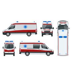 ambulance car an emergency medical service vector image