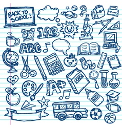 Back to School Freehand Doodles vector image