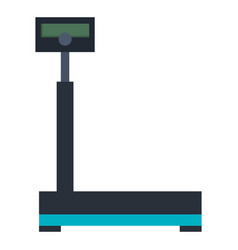 Balance scale warehouse icon vector