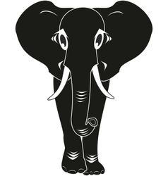 black elephant isolated vector image vector image