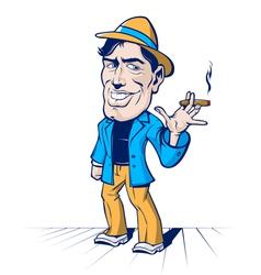 cartoon cute man vector image