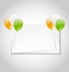 Celebration card with balloons vector