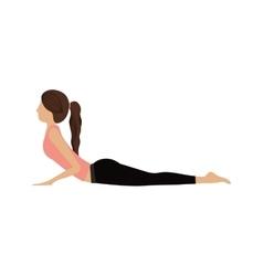 Colorful yoga woman cobra pose vector