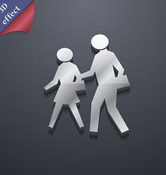 Crosswalk icon symbol 3d style trendy modern vector