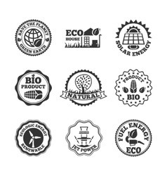 Eco energy labels set vector