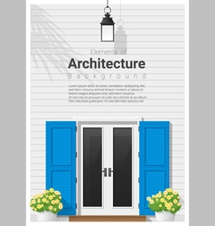 Elements of architecture front door background 14 vector image vector image