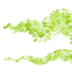green leaf wave background vector image