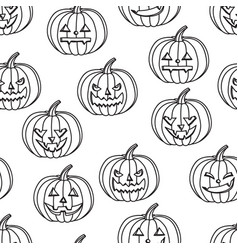halloween seamless background pumpkin with vector image