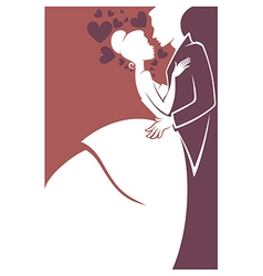 happy wedding vector image