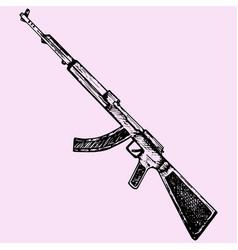 Kalashnikov assault rifle vector