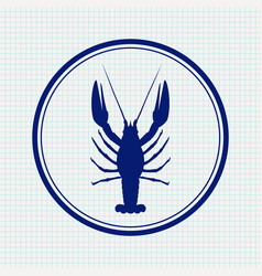 Lobster hand drawn sketch icon vector