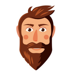 man face icon cartoon style vector image