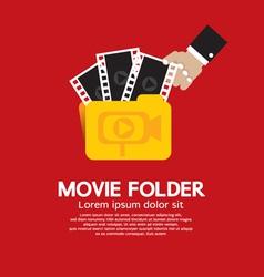 Movie folder vector