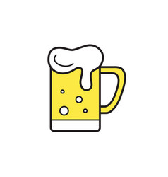 mug of beer icon thin line for web and mobile vector image vector image