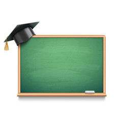 school board and graduation cap vector image vector image