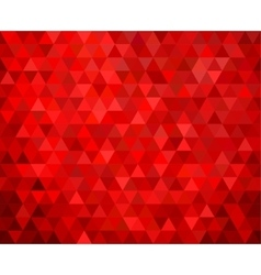 seamless red geometric background vector image vector image