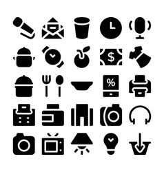 Shopping icons 5 vector