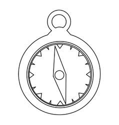 Simple compass icon image vector