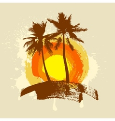 Summer tropical island vector image