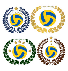 the theme volleyball vector image