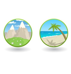 travel icons vector image vector image