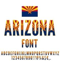 Usa flag font vector