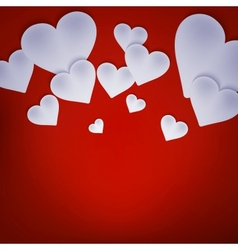 Valentine background with hearts on red EPS 10 vector image vector image