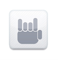 White fingers fan icon eps10 easy to edit vector
