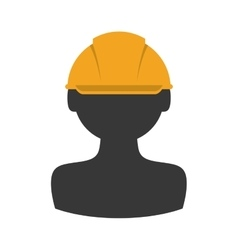 Helmet constructer worker industry icon vector