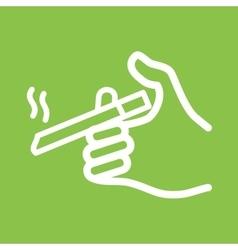 Holding Cigarette vector image