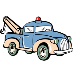 Toy tow truck vector image