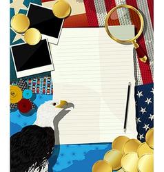 USA frame vector image