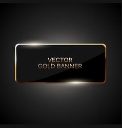 Golden frame banner vector