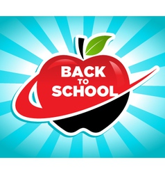 Back to school swoosh apple icon vector