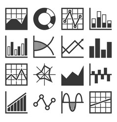 analytics and finance icon set vector image