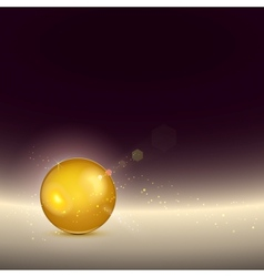 Golden shiny glow sphere backgroundcontains light vector